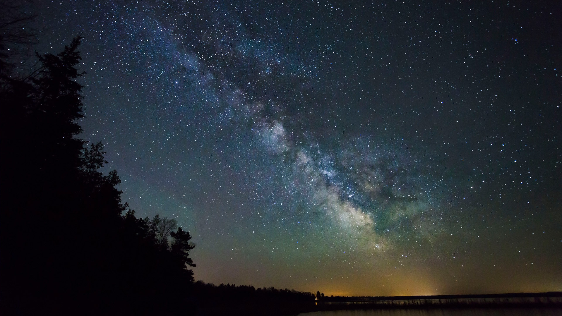 milky way fades into the distance